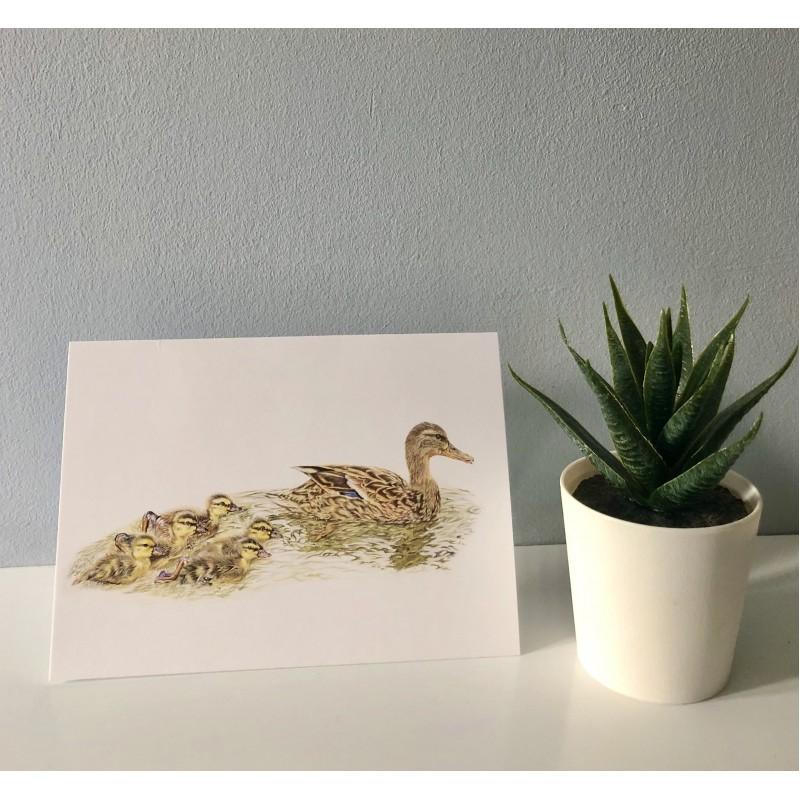 'Mothers little ducklings' blank greetings cards