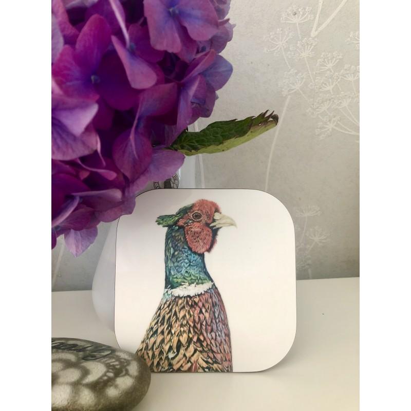 'Mr Banks' pheasant coaster