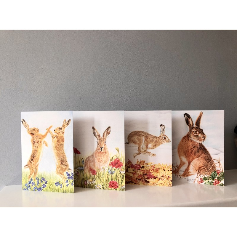Pack of 4, 4 seasons hare cards