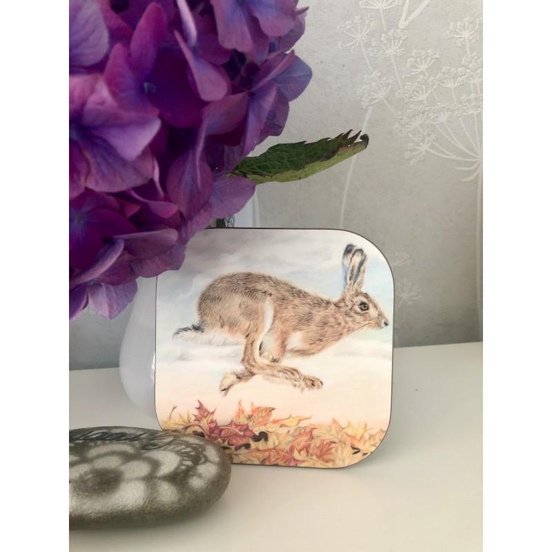 'Autumn Hare'  hare coaster