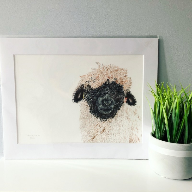 Madge, A4 Limited Edition Giclee Print (Mounted)