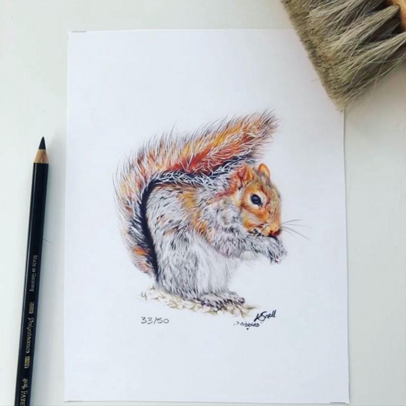 'Nibbles' limited edition mini print