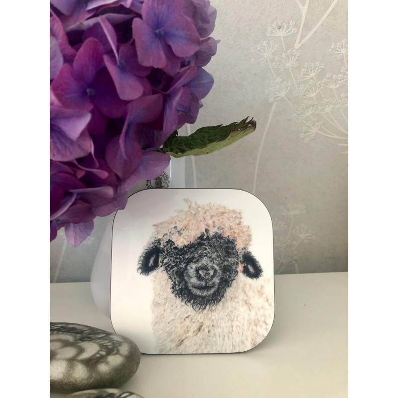 'Madge' sheep coaster