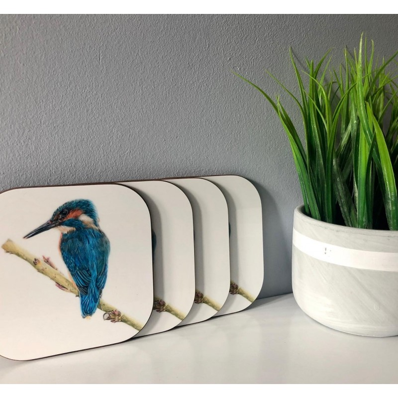 Pack of 4 'Mr Fisher' Melamine Coasters
