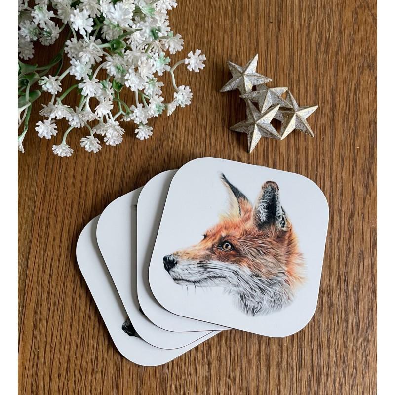 'Mr Fox' melamine coaster