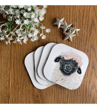 Pack of 4 'Madge' Melamine Coasters
