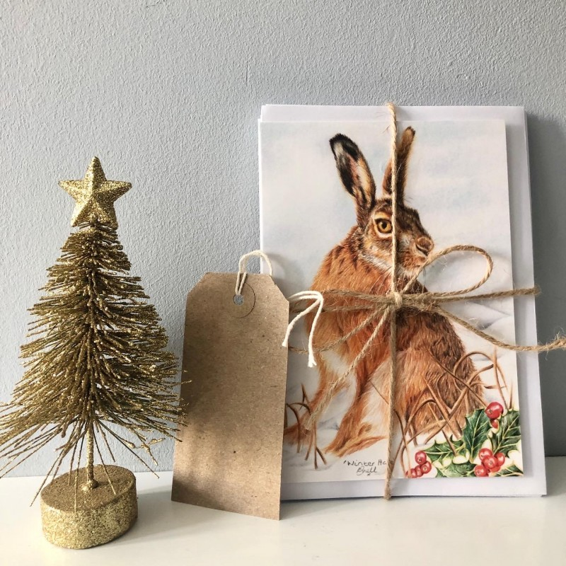 Hare Christmas Cards (pack of 5)