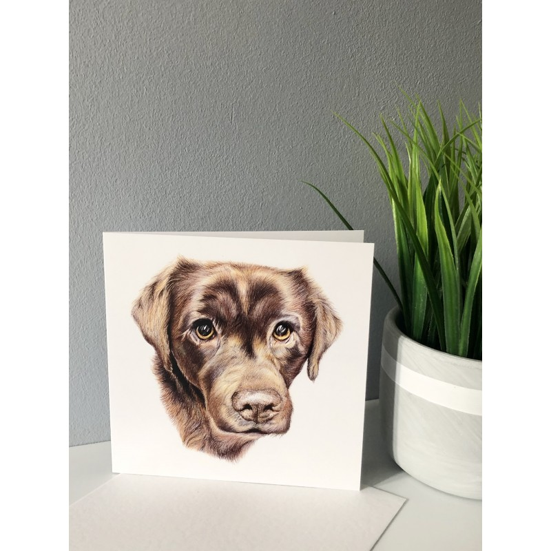 'Wispa' Dog Greetings Card