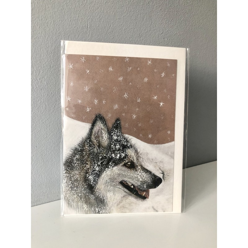 Snow Dog Greetings Card