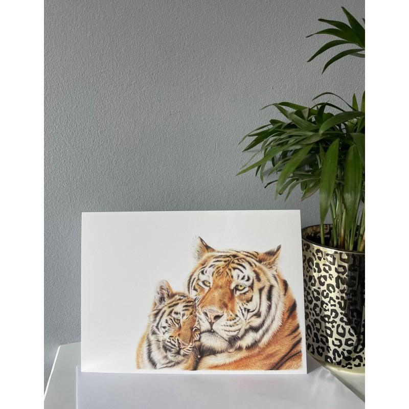 'Tiger Love' Greetings Card