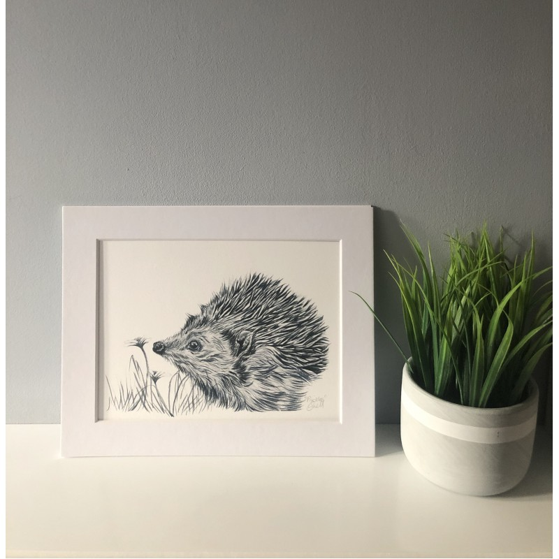 Prickles, 7x5 Giclee Print (Mounted)