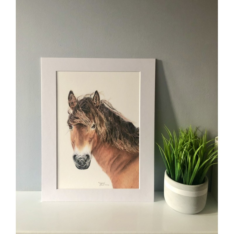 Breeze, 8x6 Limited Edition Giclee Print  (Mounted)