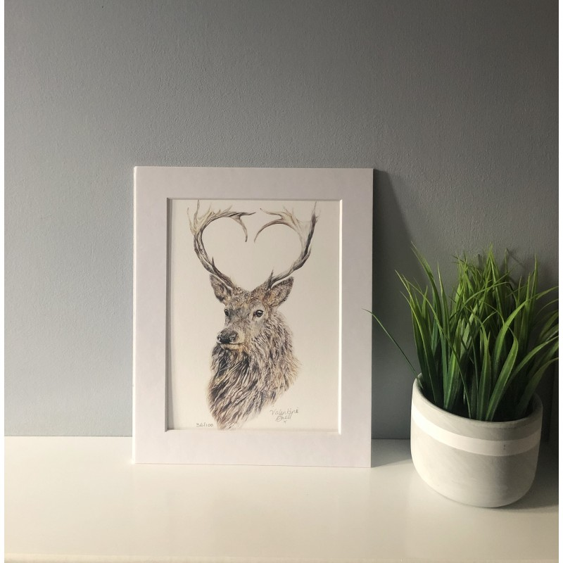 Valentine, 8x6 Limited Edition Giclee Print (Mounted)