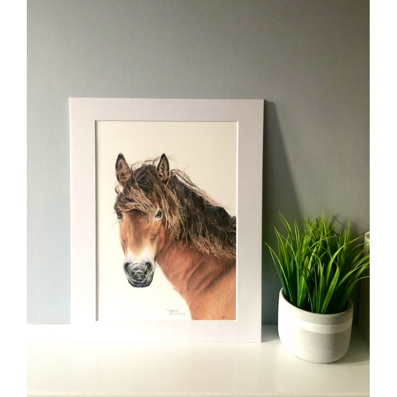 Breeze, A4 Limited Edition Giclee Print  (Mounted)
