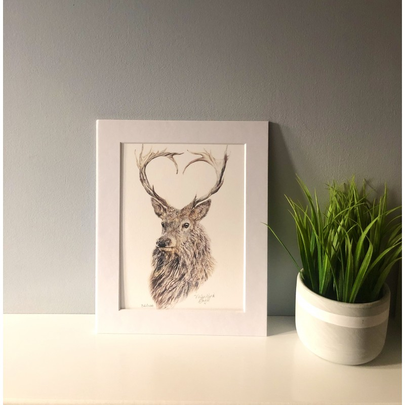 Valentine, A4 Limited Edition Giclee Print (Mounted)